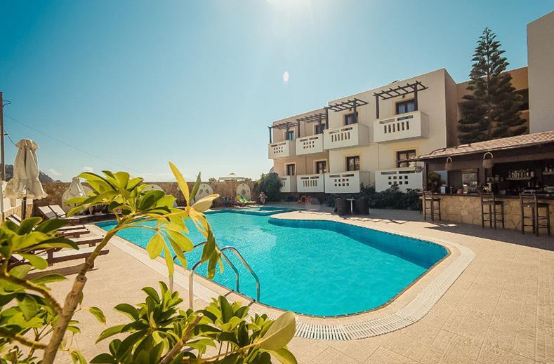 Geniet in alle luxe met een verblijf in het Arkasa Bay. Dit hotel is te vinden op het Griekse eiland Karpathos.