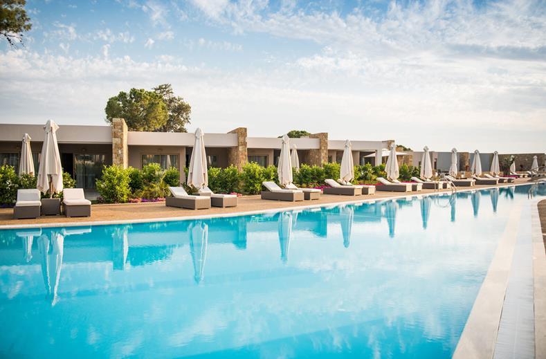 Ikos Dassia Hotel ligt op het eiland Chalkidiki. Ideaal voor een luxe vakantie in Griekenland.